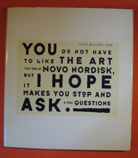 Image for You Do Not Have to Like the Art You See at Novo Nordisk, But I Hope It Makes You Stop and Ask a Few Questions