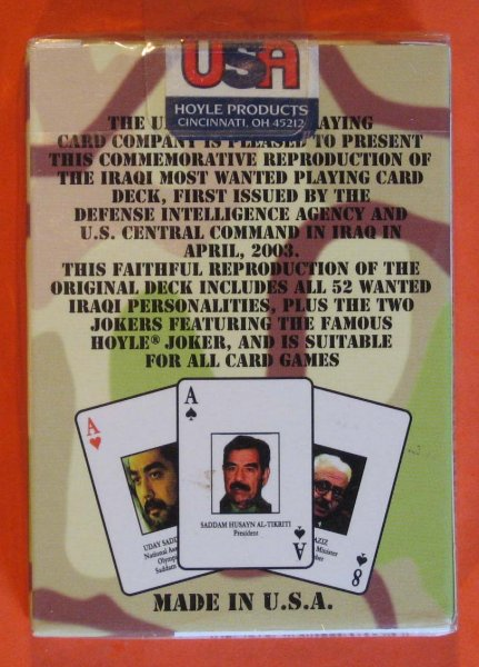 Image for Iraqi Most Wanted Playing Cards