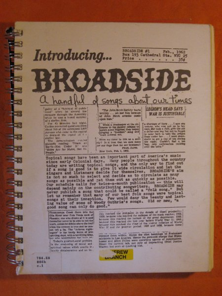 Image for Best of Broadside 1962 - 1988; Anthems of the American Undergroun from the Pages of Broadside Magazine