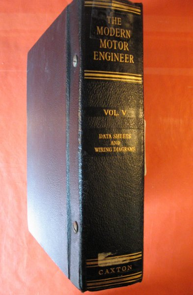 Image for Modern Motor Engineer, the; Volume V: Data Sheets and Wiring Diagrams