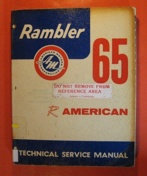 Keyword Propeller Wiring Diagrams Of 1963 Rambler 6 American 1965 Technical Service Manual