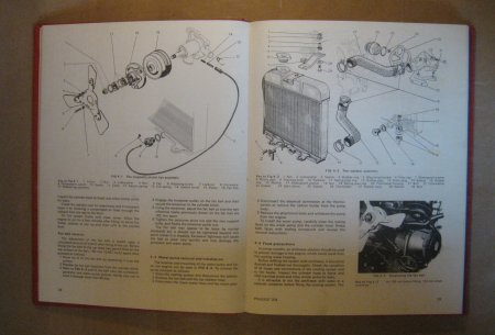 Peugeot 204 1965 74 Autobook Engine Cooling Diagram
