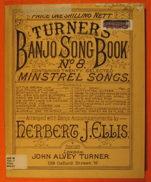 Image for Turner's Banjo Song Book, No. 8