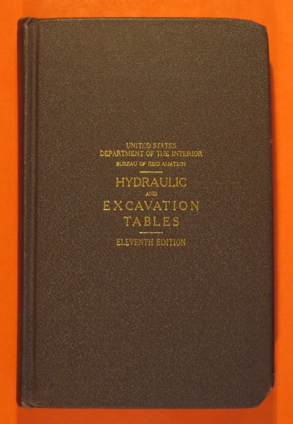 Image for Hydraulic and Excavation Tables Eleventh Edition
