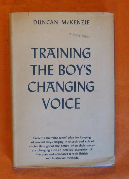 Image for Training the Boy's Changing Voice