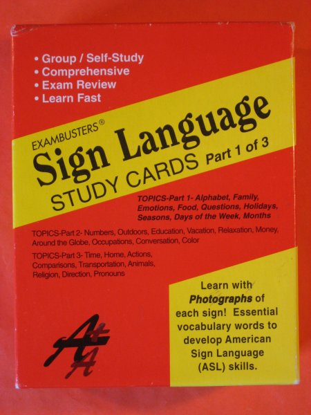 Image for Sign Language Study Cards (Ace's Exambusters)