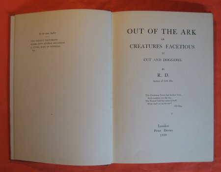 Image for Out of the Ark or Creatures Facetious in Cut and Doggerel