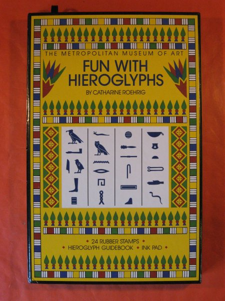 Image for Fun with Hieroglyphs: 24 Rubber Stamps, Hieroglyph Guidebook, Ink Pad (Box Set) (The Metropolitan Museum of Art)