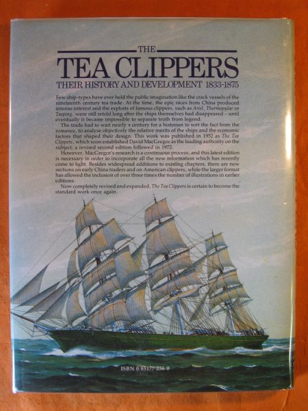 Image for The Tea Clippers. Their History and Development 1833-1875 CFOL 4-11 OVERSIZE