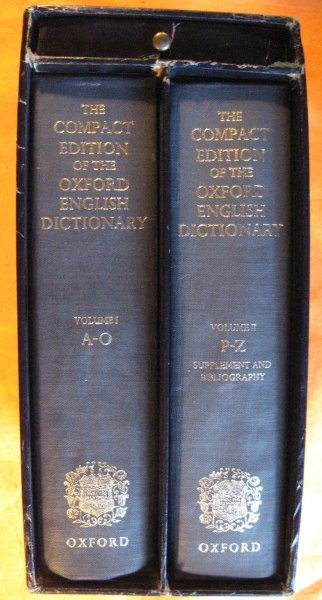 Image for Compact Edition of the Oxford English Dictionary: Complete Text Reproduced Micrographically (2 Volumes in a Slipcase, with Magnifying Glass), The
