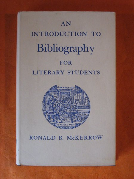 Image for Introduction to Bibliography for Literary Students, An