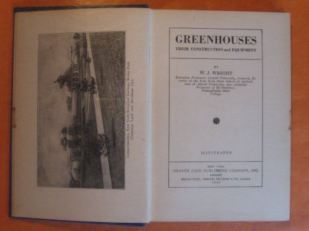 Image for Greenhouses:  Their Construction and Equipment