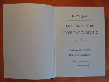 Image for History of Keyboard Music to 1700, The