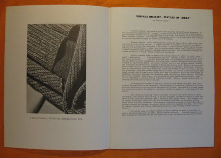 Image for Surface Interest:  Textiles of Today (Shuttle Craft Monograph Two)