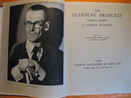Image for Sleeping Princess:  Camera Studies By Gordon Anthony, The