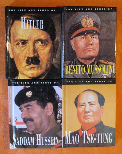 Image for Four Tiny Books on Dictators - Mao Tse-Tung, Benito Mussolini, Hitler, and Saddam Hussein