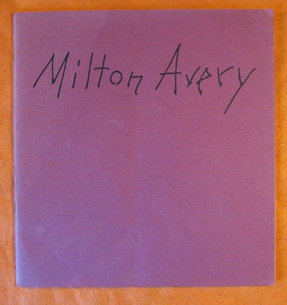 Image for Milton Avery:  Major Paintings, April 15--May 9, 1981