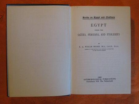 Image for A History of Egypt (4 Book, 8 Vol. set)