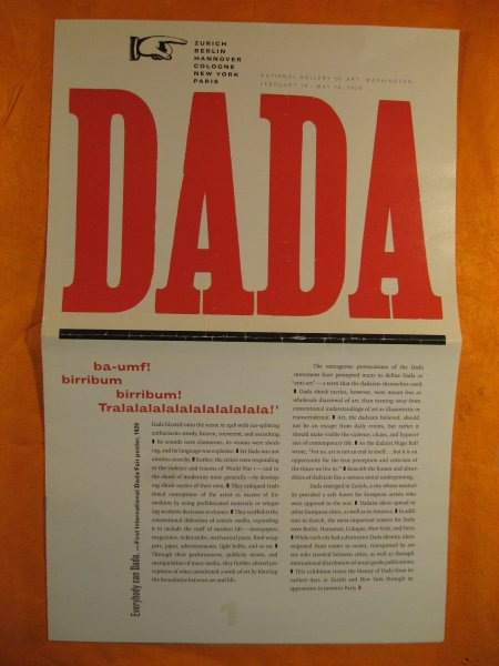 Image for Dada: Zurich, Berlin, Hannover, Cologne, New York, Paris