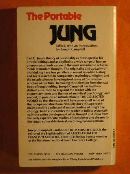 Image for The Portable Jung (Viking Portable Library, No. 70)