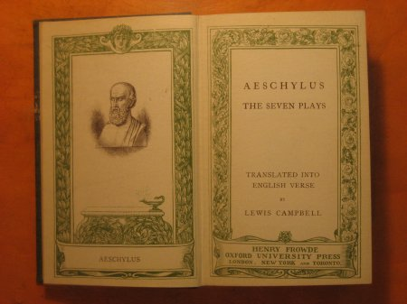 Image for Aeschylus:  The Seven Plays Translated Into English Verse