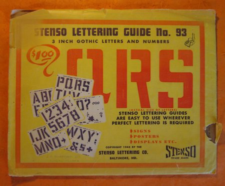 Image for Stenso Lettering Guide No. 93:  3 Inch Gothic Letters and Numbers