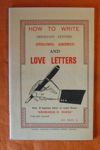 Image for [African Market Literature]  How To Write Important Letters, Applications, Agreements and Love Letters