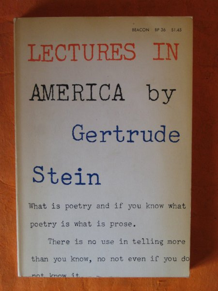 Image for Lectures in America By Gertrude Stein