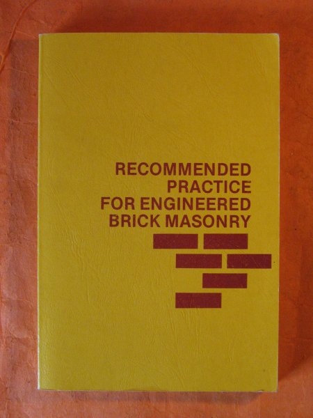 Image for Recommended Practice for Engineered Brick Masonry