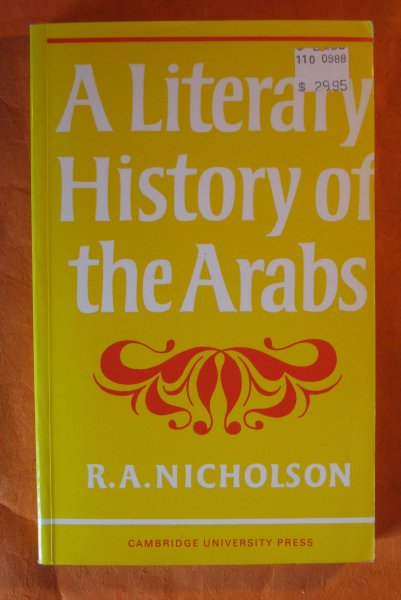 Image for A Literary History of the Arabs