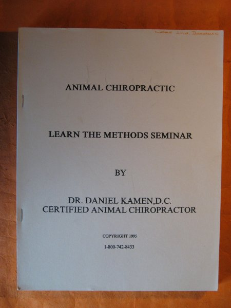 Image for Animal Chiropractic: Learn the Methods Seminar with Equine Chiropractic Technique ;  Two Vol. Set