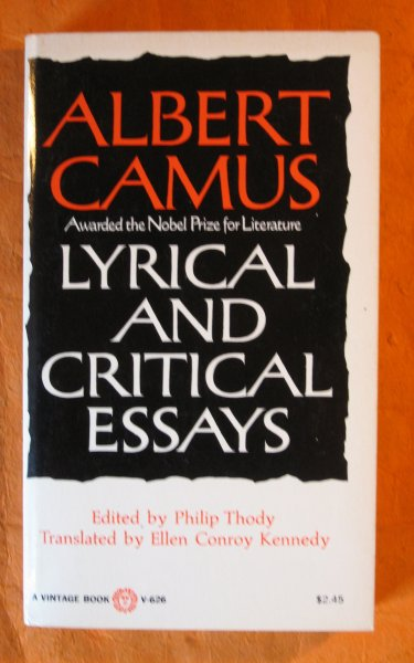 Image for Lyrical and Critical Essays