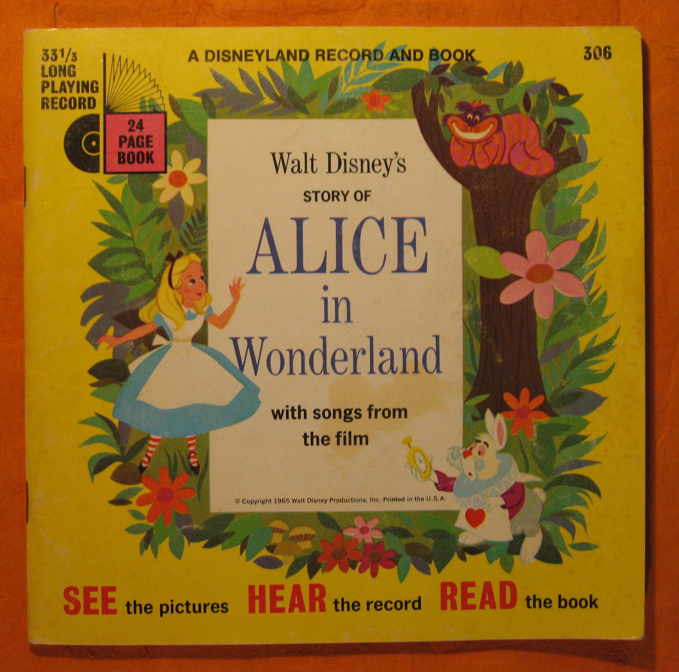 Image for Walt Disney's Story of Alice in Wonderland with Songs from the Film :  A Disneyland Record and Book