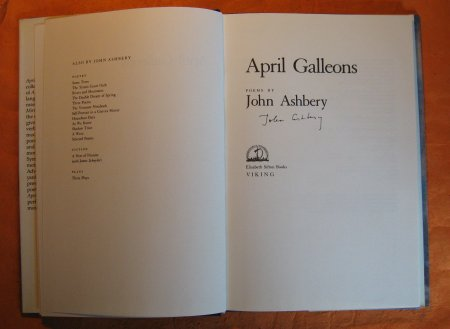 Image for April Galleons:  Poems By John Ashbery
