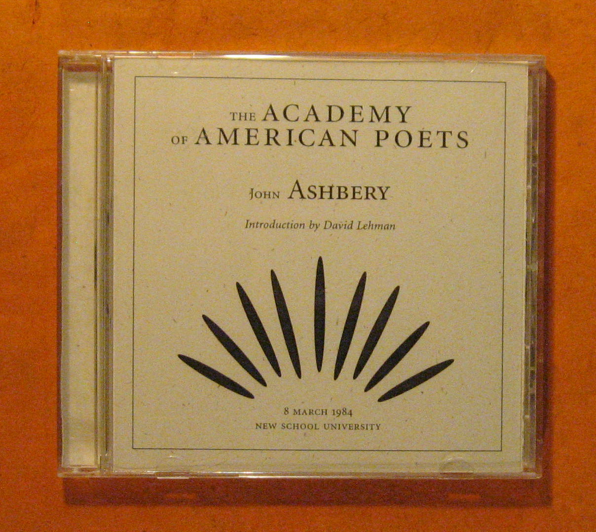 Image for John Ashbery [The Academy of American Poets Audio CD]