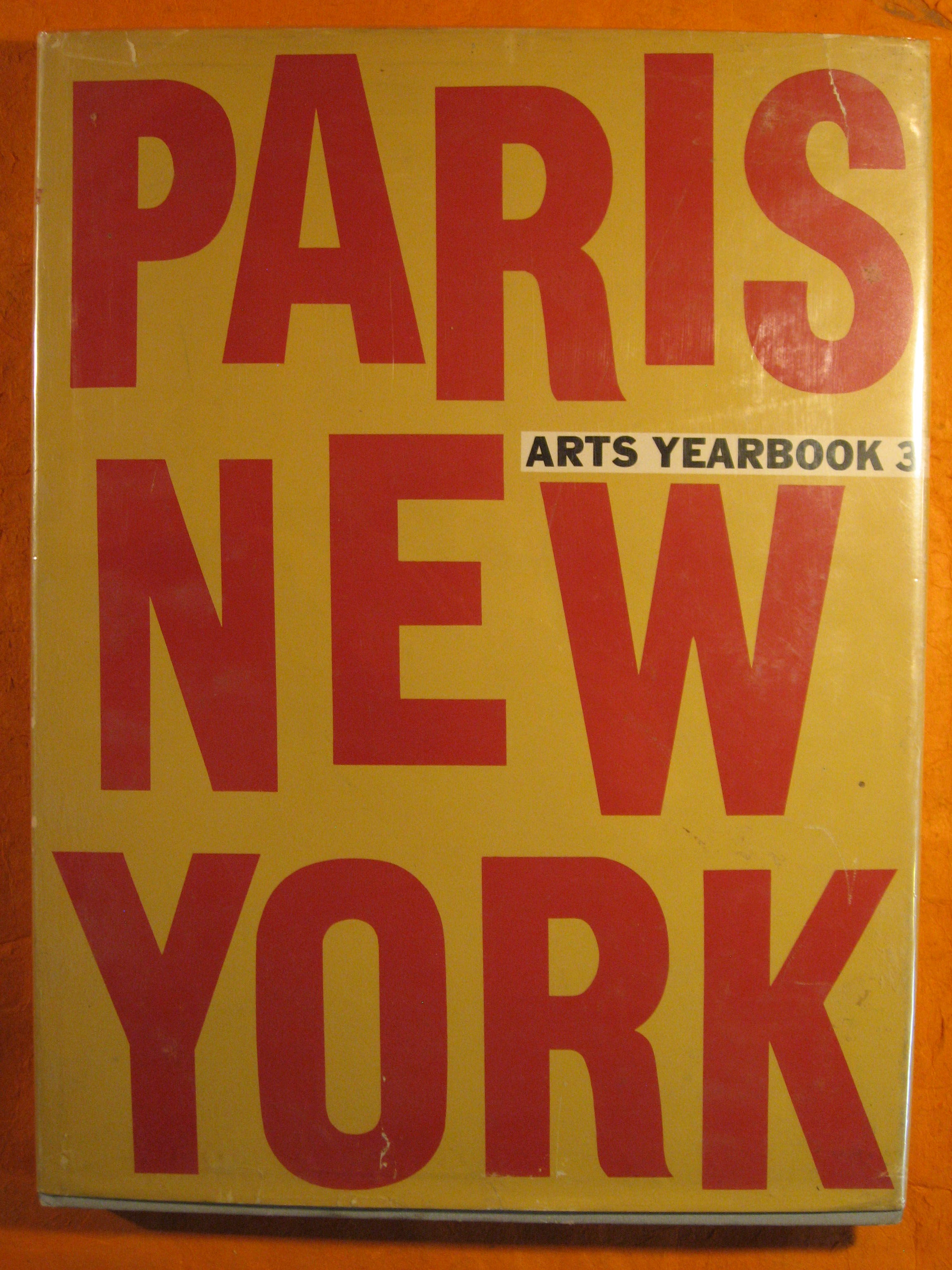 Image for Arts Yearbook 3:  Paris / New York