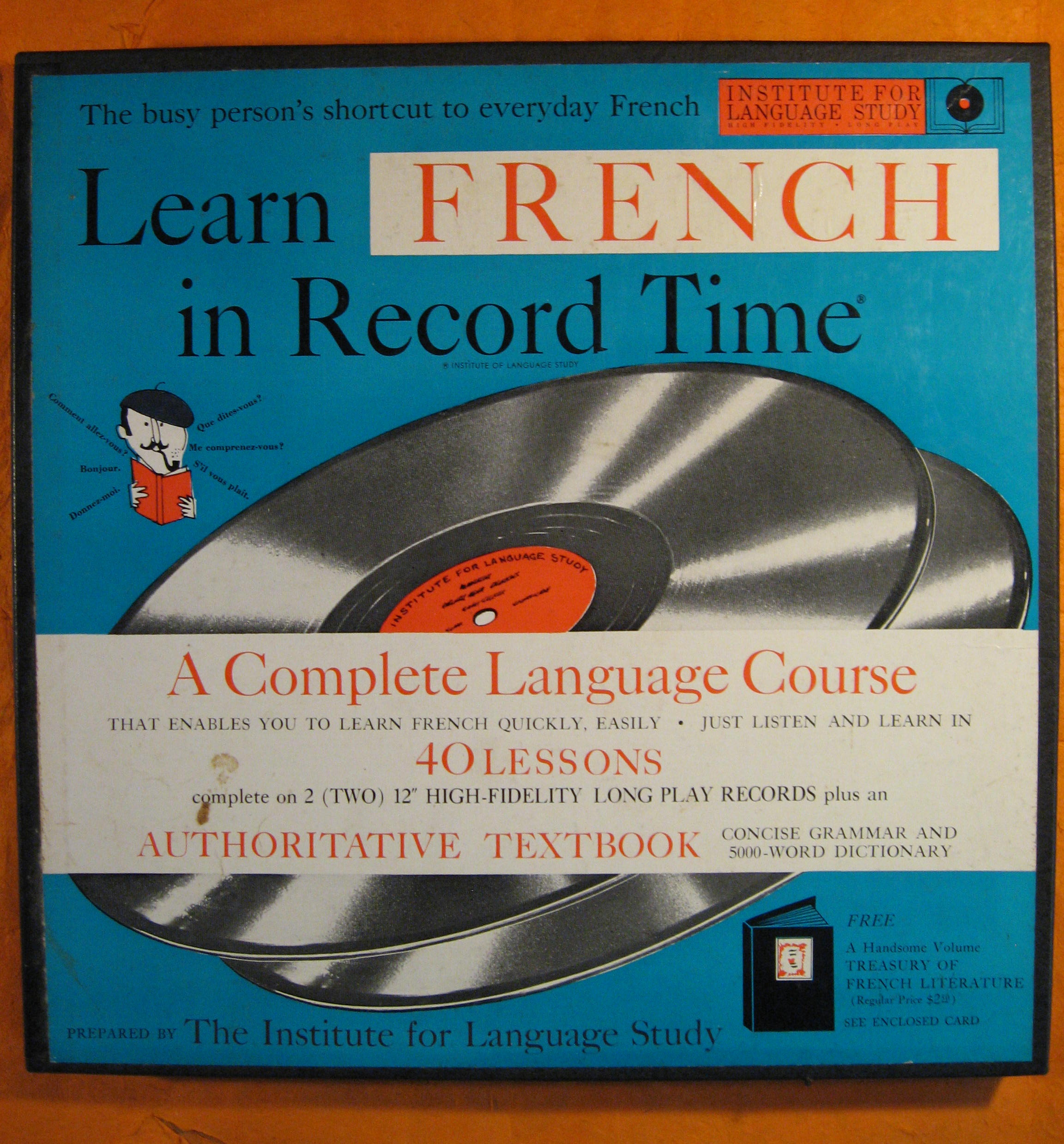 Image for Learn French in Record Time Language Course (Vinyl Albums)