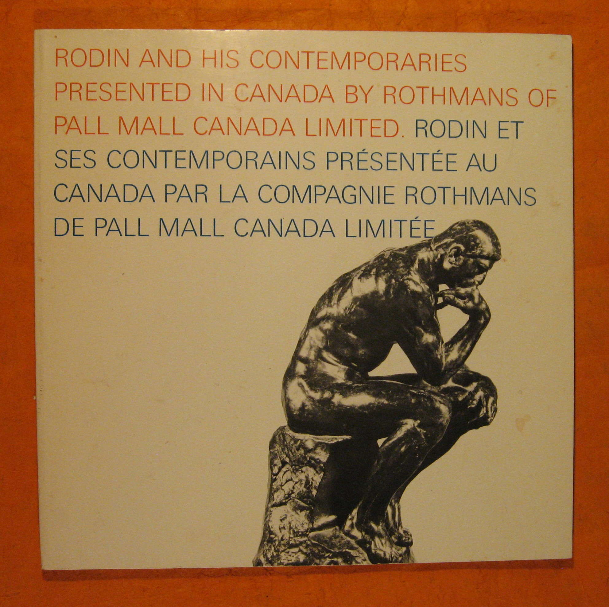 Image for Rodin and His Contemporaries Presented in Canada By Rothmans of Pall Mall Canada Limited /  Rodin et ses contemporains presente au Canada par la compagnie Rothmans de Pall Mall Canada Limitee