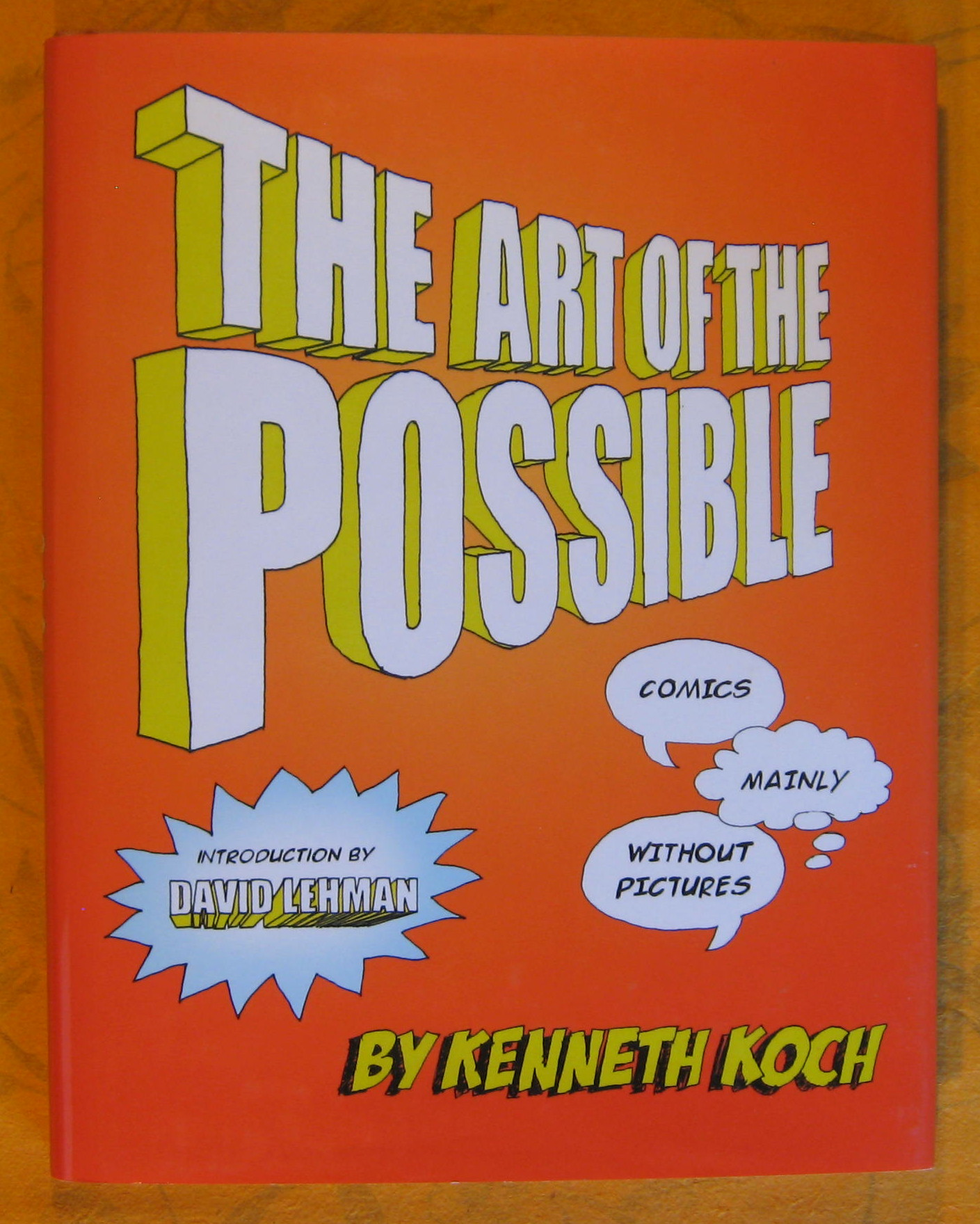 Image for The Art of The Possible : Comics, Mainly Without Pictures