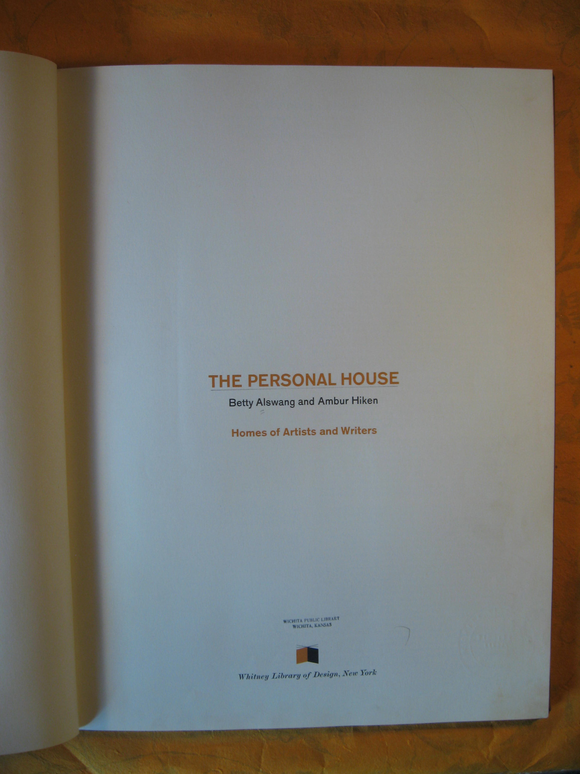 Image for The Personal House: Homes of Artists and Writers