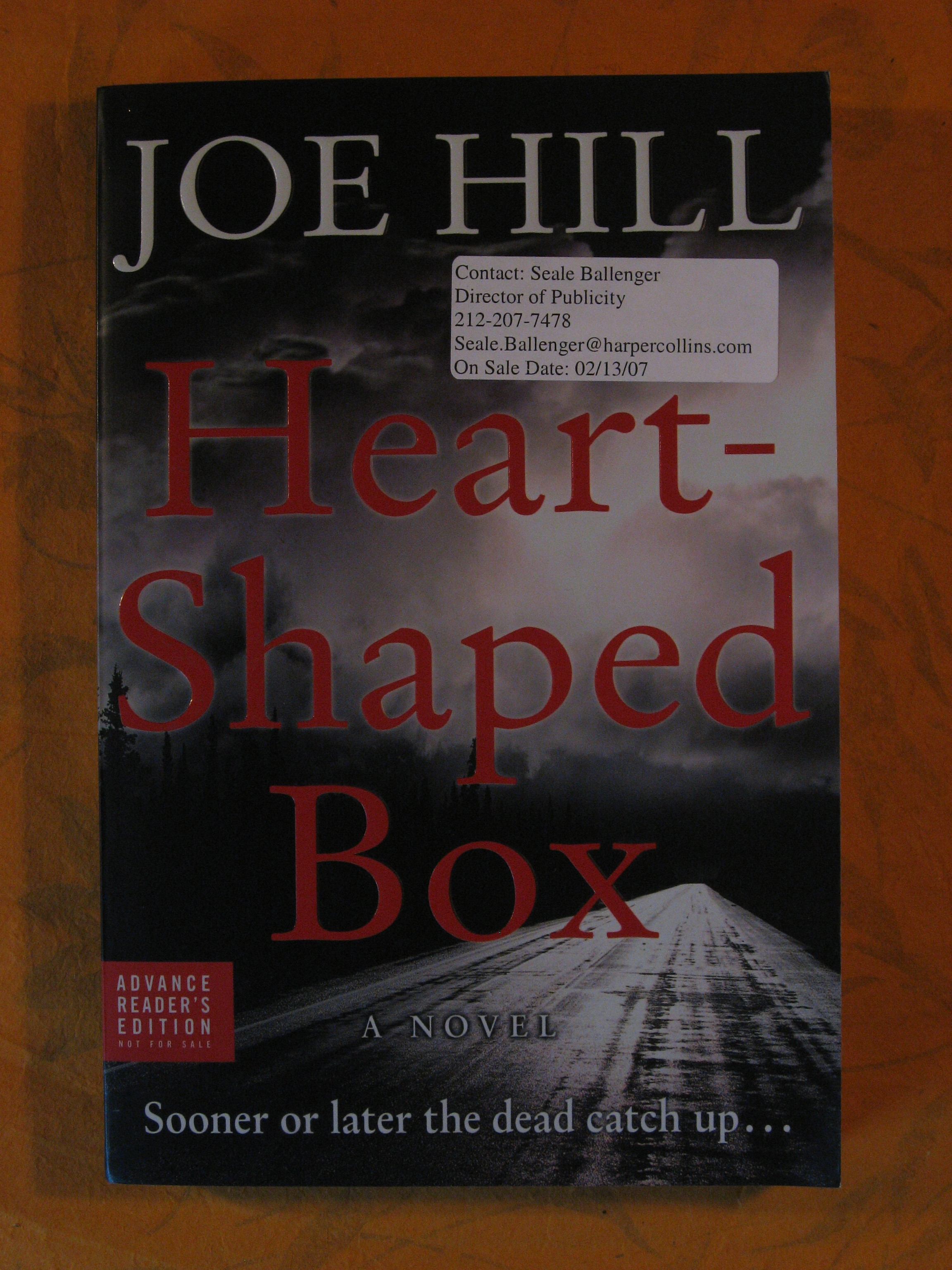 Image for Heart - Shaped Box [Advance Reader's Edition]