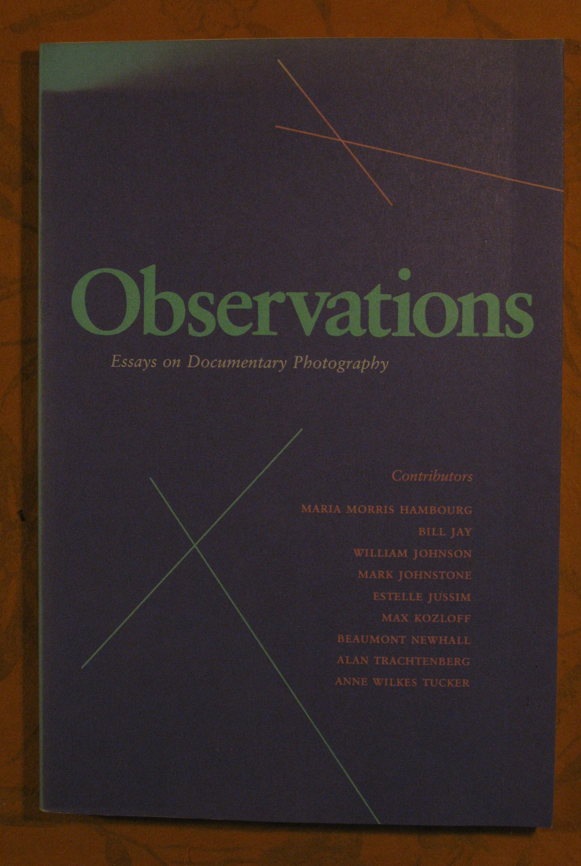 Image for Observations: Essays on Documentary Photography (Untitled 35)