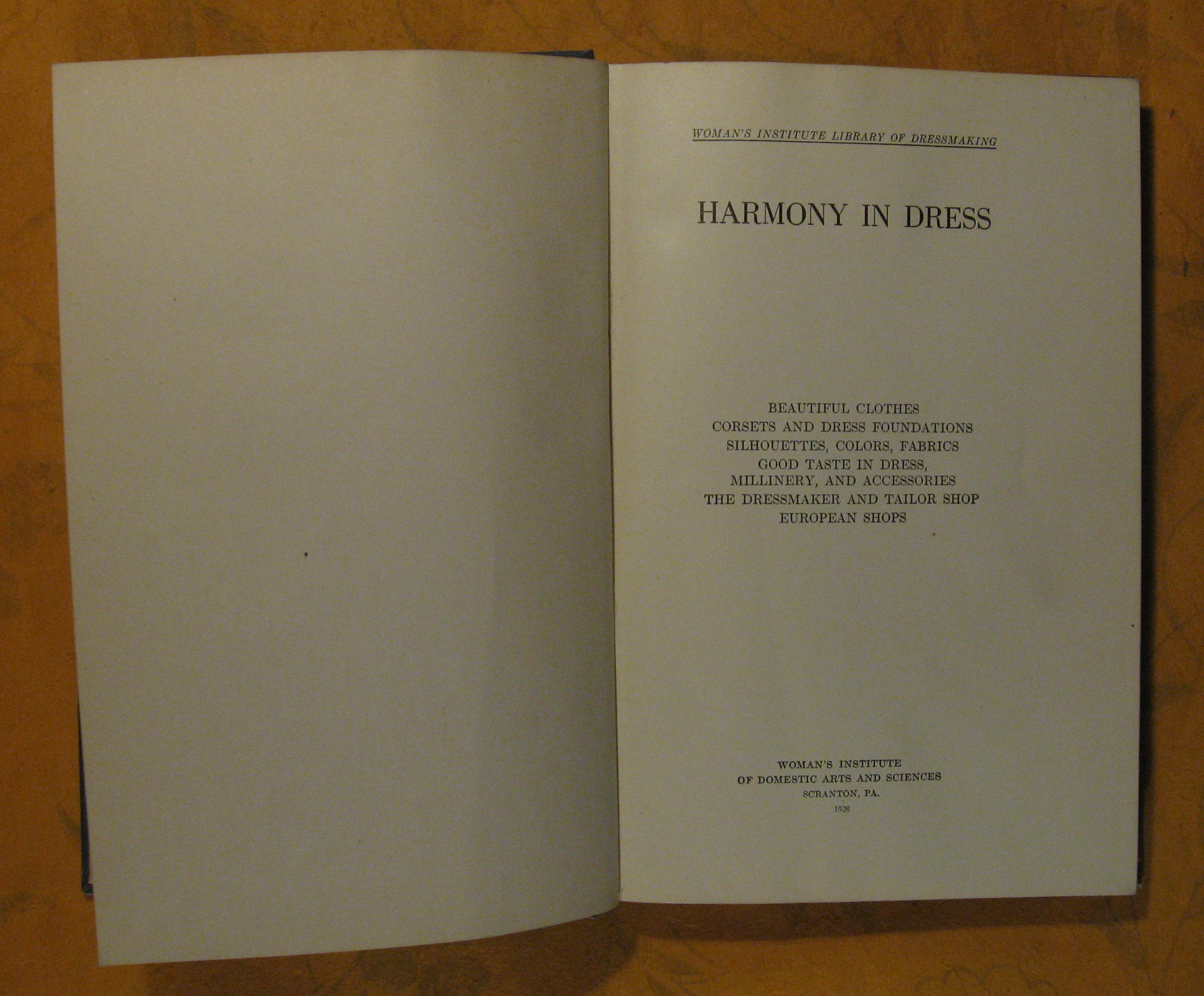 Image for Woman's Institute Library of Dressmaking:  Harmony in Dress  (Volume 2)